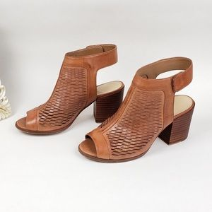 Vince Camuto Lavette Perforated Peep toe booties